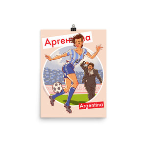 Argentina, Footbal Pin-Up, Poster