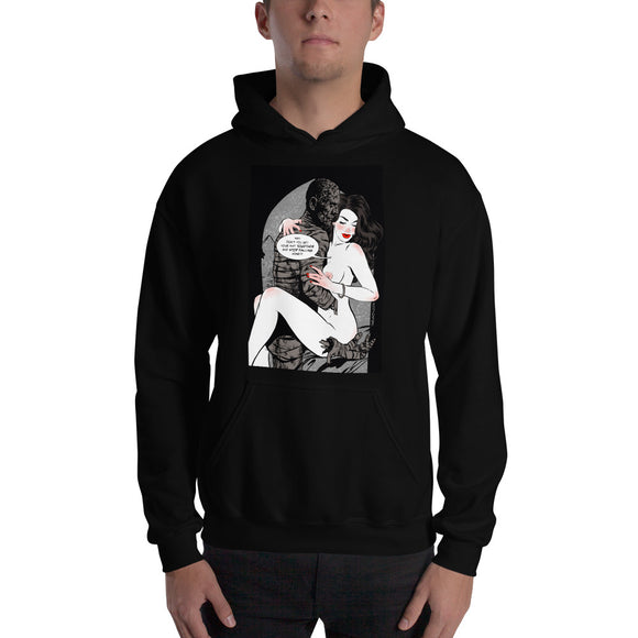 Mummy, Erotic Gothic, Hooded Sweatshirt