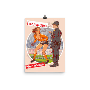 Netherlands, Footbal Pin-Up, Poster