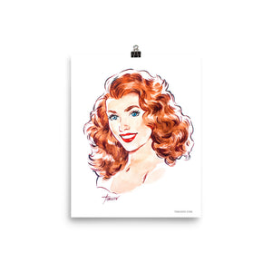 Rita Hayworth, Hollywood Icons, Poster