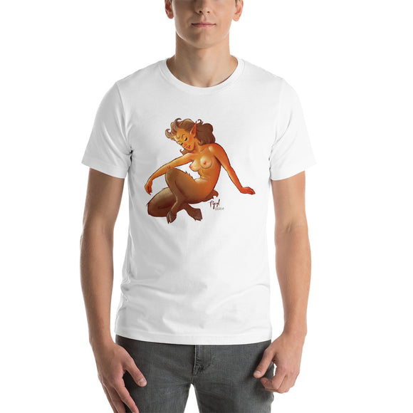 Satir, Greek Gods Pin-Up  (NSFW), Short-Sleeve Unisex T-Shirt