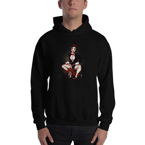 Billy the Puppet from the Saw - Snowwhite, Maniac Princesses, Hooded Sweatshirt