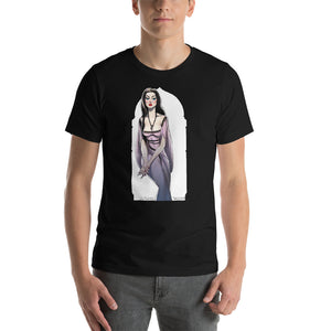 Lily Munster, Halloween Girls Pin-Up, Short-Sleeve Unisex T-Shirt
