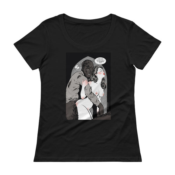 Wolfman, Erotic Gothic, Ladies' Scoopneck T-Shirt