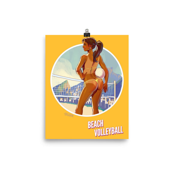 Beach Volleyball, Brazil Olympics, Poster