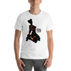 4 of clubs (Silhouette), Kinky Cards, Short-Sleeve Unisex T-Shirt