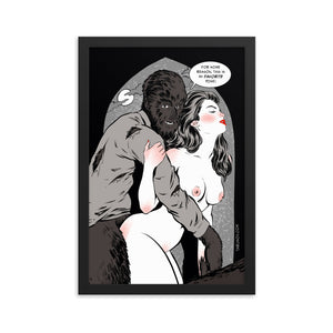 Wolfman, Erotic Gothic, Framed poster