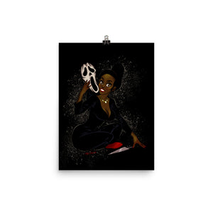 Ghostface from the Scream - Tiana, Maniac Princesses, Poster