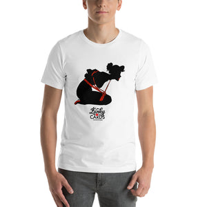 3 of clubs (Silhouette), Kinky Cards, Short-Sleeve Unisex T-Shirt