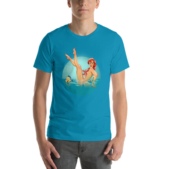 Ariel from Little Mermaid, Disney Princesses Pin-Up, Short-Sleeve Unisex T-Shirt