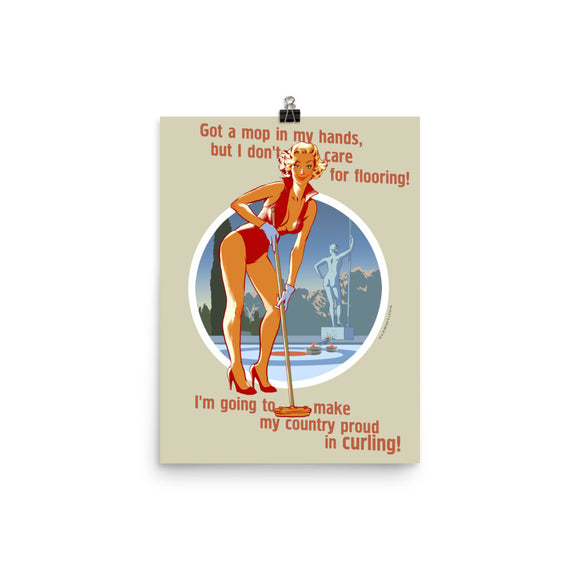 Kerling, Sports Pin-Up, Poster