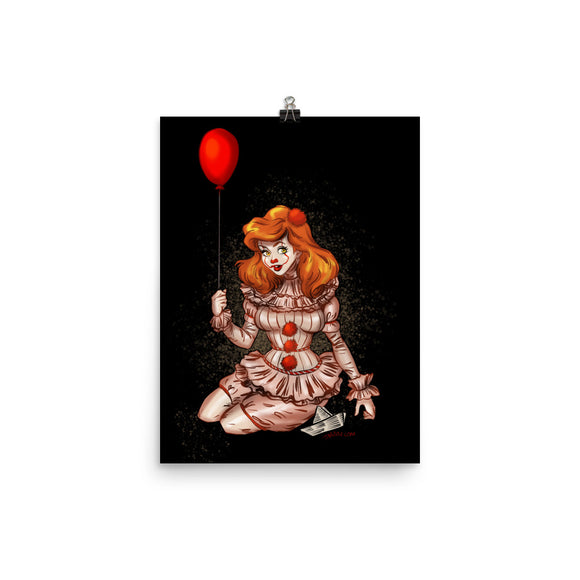 Pennywise from It - Ariel, Maniac Princesses, Poster