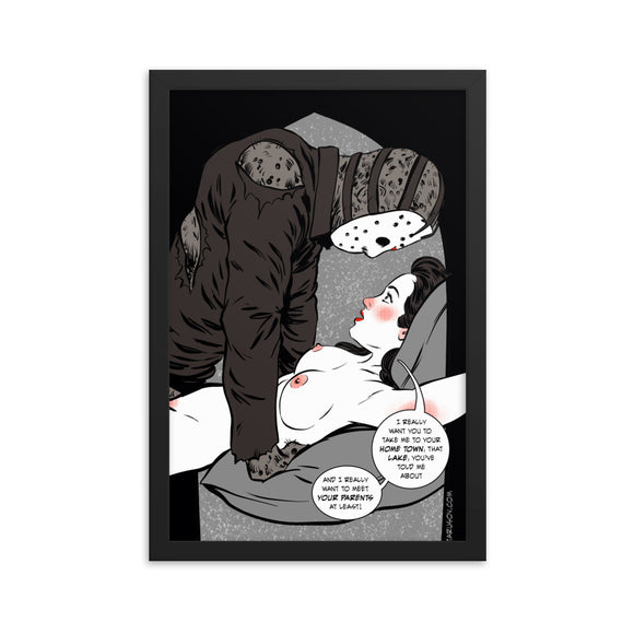 Jason Voorhees, Erotic Gothic, Framed poster