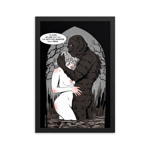 Monster From The Black Lagoon, Erotic Gothic, Framed poster