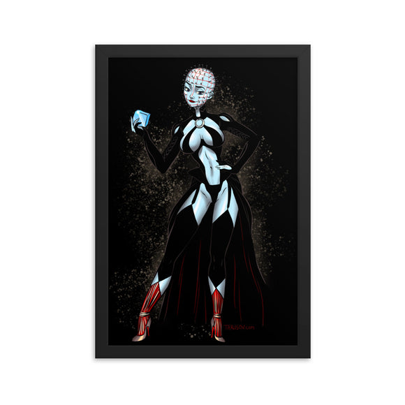 Pinhead from the Hellraiser - Elsa, Maniac Princesses, Framed poster