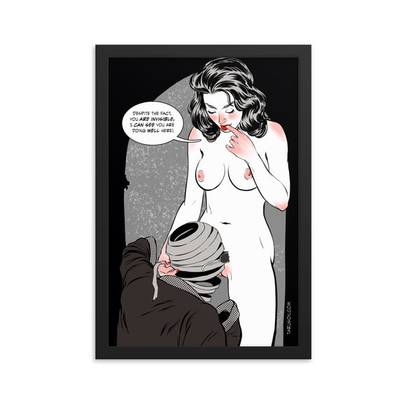 Invisible Man, Erotic Gothic, Framed poster