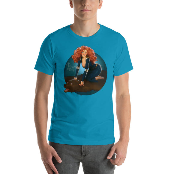 Merida from the Brave, Disney Princesses Pin-Up, Short-Sleeve Unisex T-Shirt