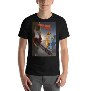 "Greta Garbo in ""Pin-Up Chainsaw Massacre"", Classic Monsters & Beauties, Short-Sleeve Unisex T-Shirt"
