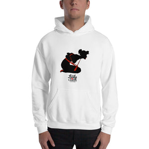 3 of clubs (Silhouette), Kinky Cards, Hooded Sweatshirt