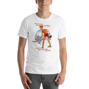 Hokey, Sports Pin-Up, Short-Sleeve Unisex T-Shirt