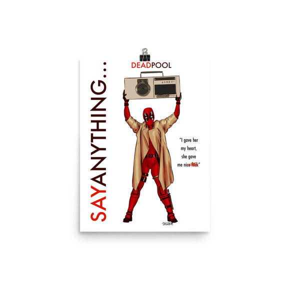 Deadpool Say Anything, Movie Posters, Poster