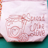 Spread the love Strawberry Bag, small project bag