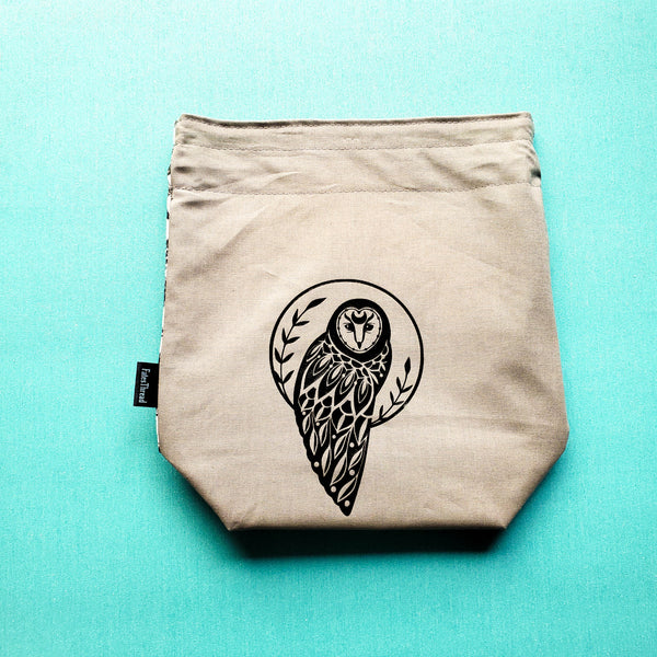 Owl, small project bag