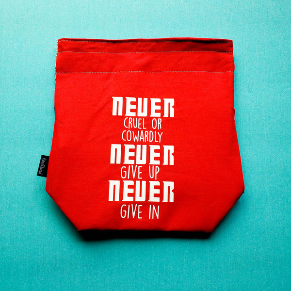 Never Cruel or Cowardly Doctor bag, small project bag