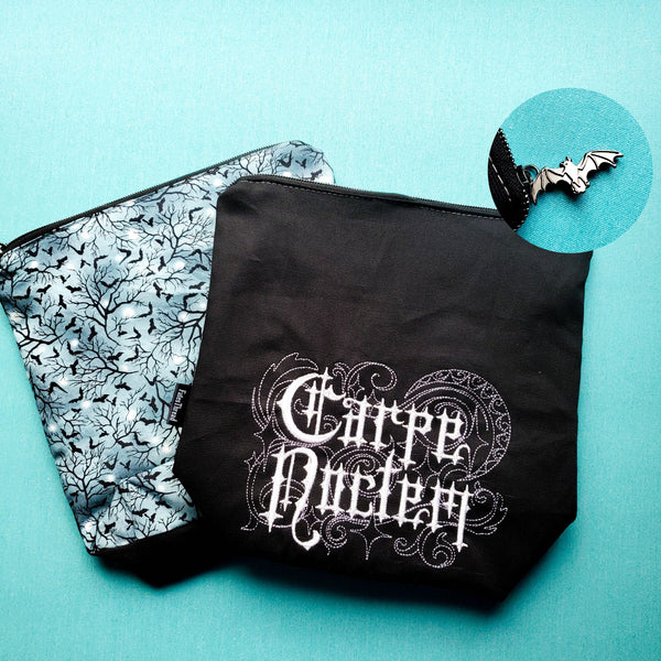 Carpe Noctem, small zipper bag