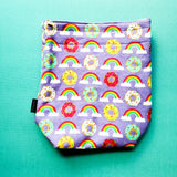 Donut Knitting Project Bag, small project bag