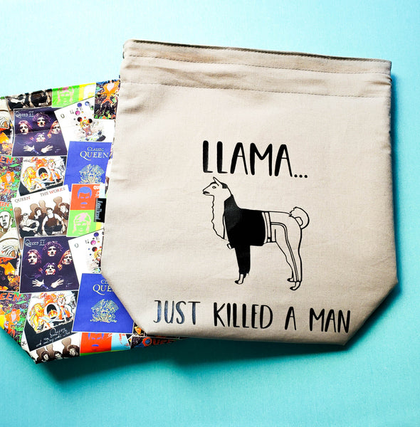 Llama Just Killed a Man, medium project bag