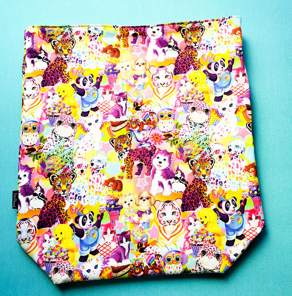 Rainbow nostalgia Animals, large project bag