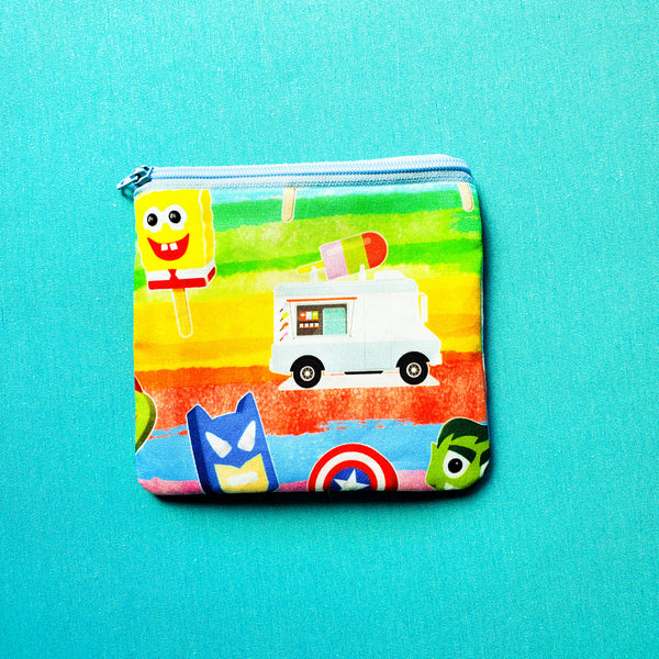 Summer Ice Cream Truck, zipper pouch