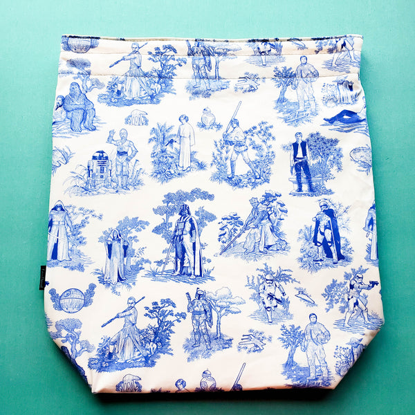 Blue Toile of War, Large Project Bag