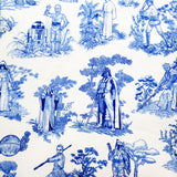 Blue Toile of War, medium project bag