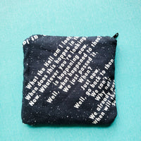 Jammed Space Parody, zipper notion pouch