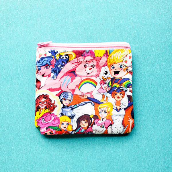 80s Cartoon, zipper pouch