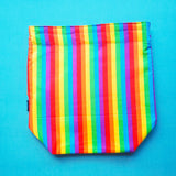 Rainbow stripes bag, medium project bag