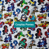 Cosplay Ponies, Hero MLP, two at a time project bag