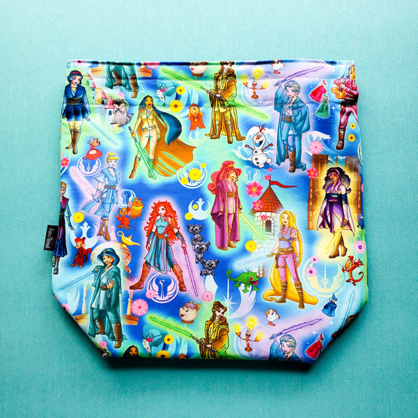 Empire Princesses and friends in blue, medium Project bag