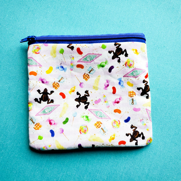 Chocolate Frogs, zipper pouch