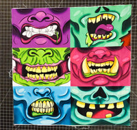 Zombie Mask Panel Set- Fabric Destash