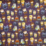 Pruple Dragon Riders- Fabric Destash