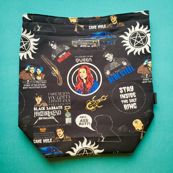 Carry on my Wayward son quotes - Medium Project Bag