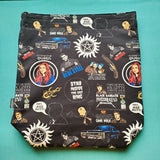 Carry on Quotes, large project bag