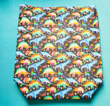 Rainbow Dinosaurs, large project bag