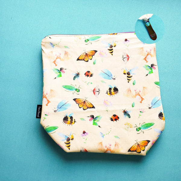 Pollinators, small zipper bag