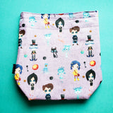 Button eyes-small project bag