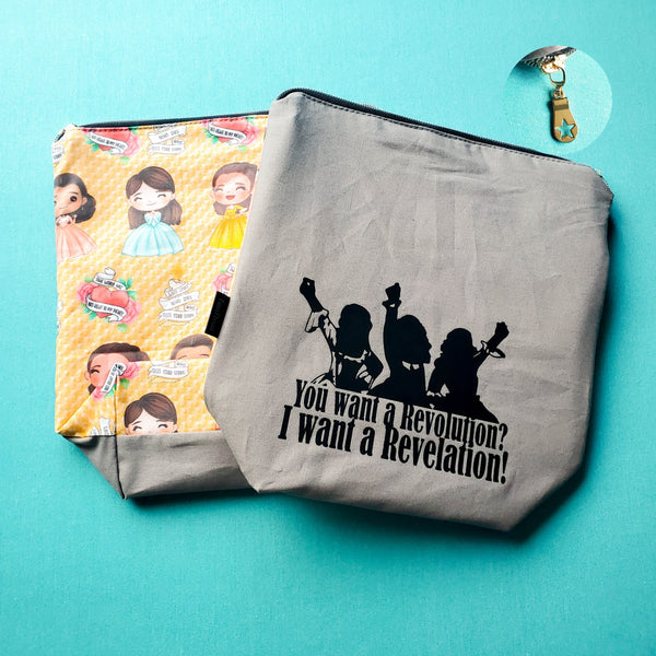 You want a Revolution, I want a revelation, small zipper bag