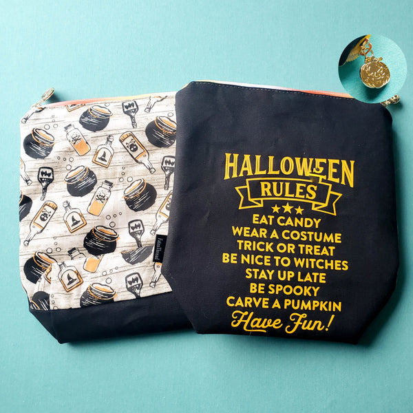 Halloween Rules, small zipper bag